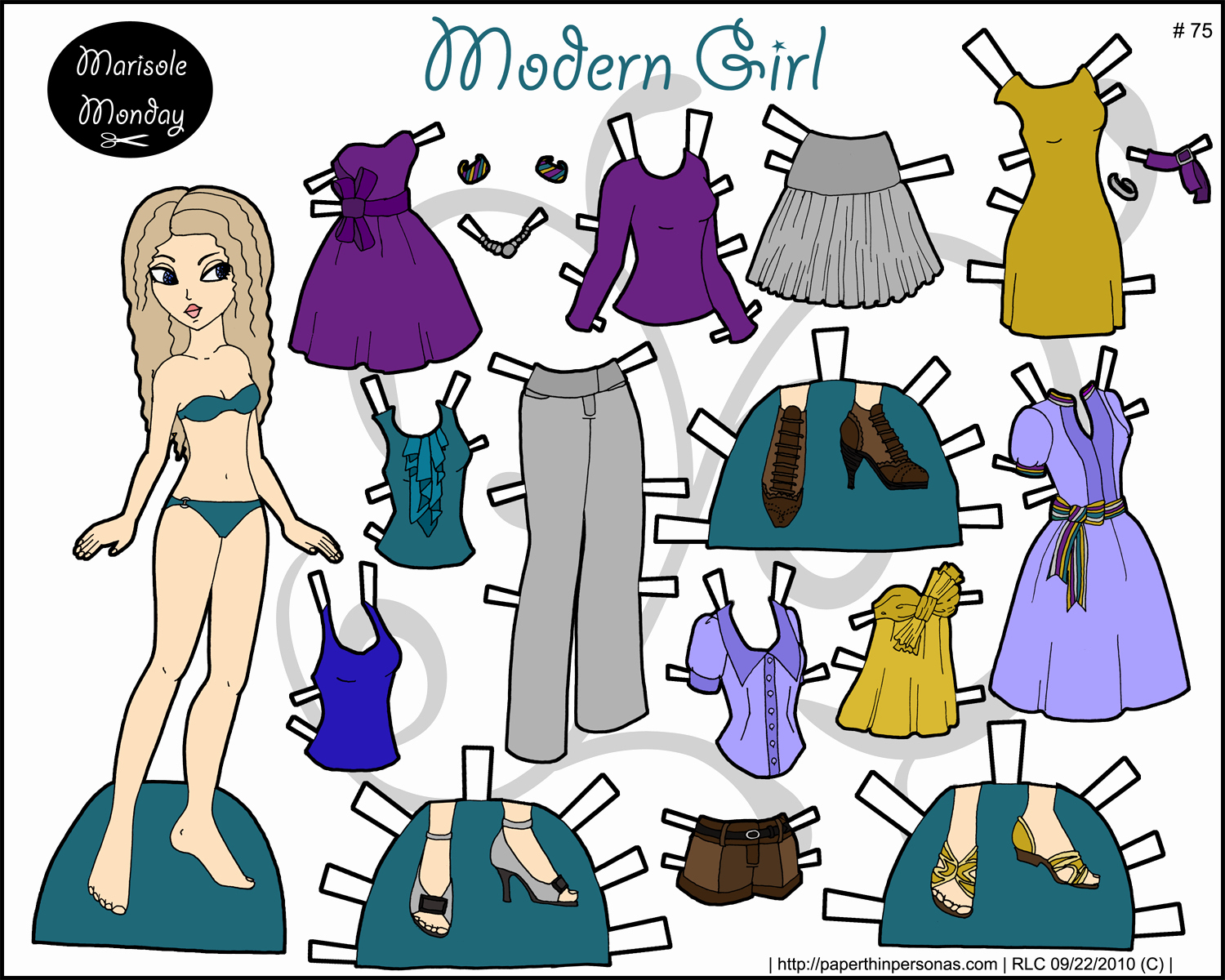 Paper Doll Cut Outs Lovely Marisole Archives • Page 12 Of 15 • Paper Thin Personas