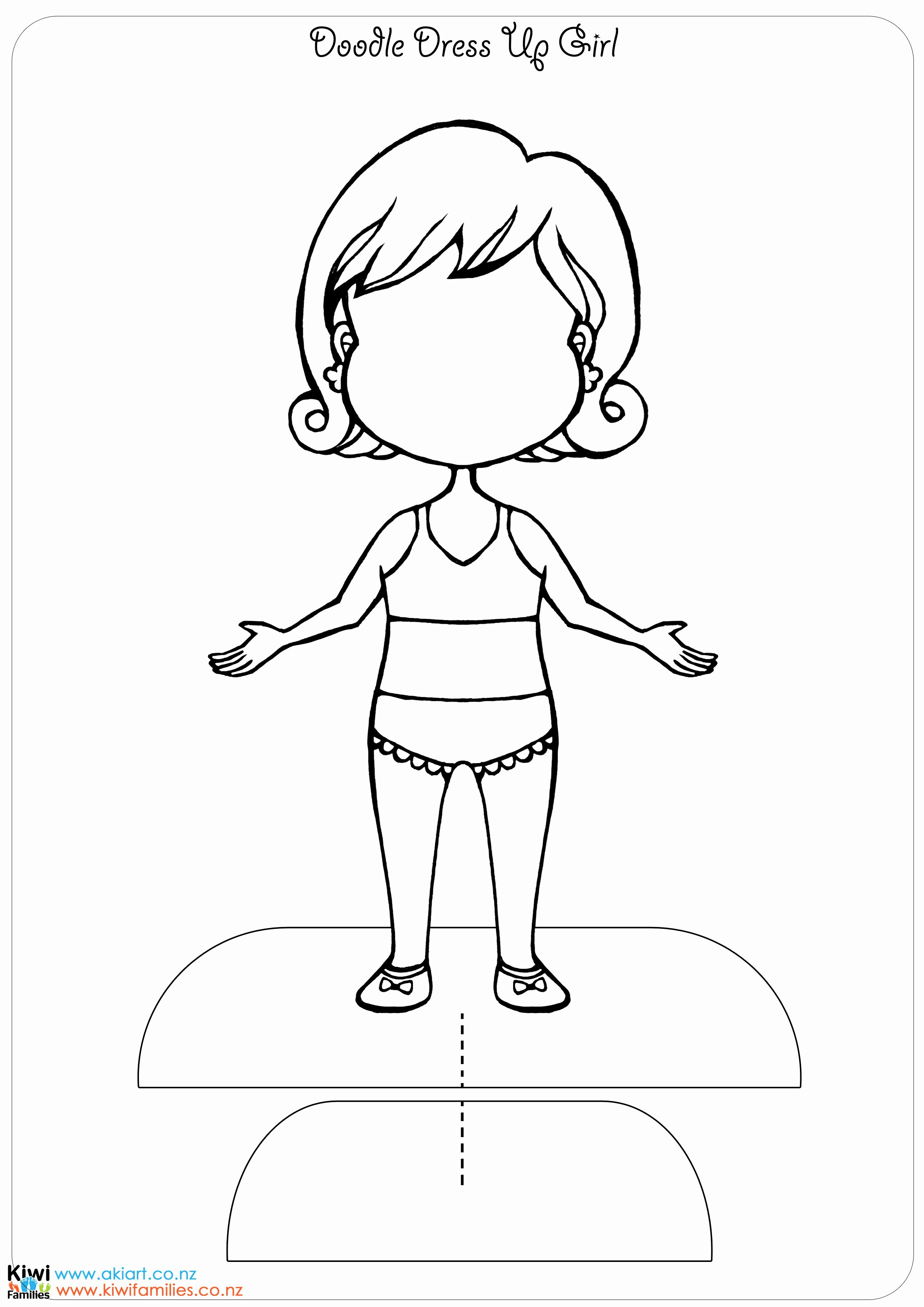 Paper Doll Cut Outs Luxury Make Your Own Paper Dolls Kiwi Families