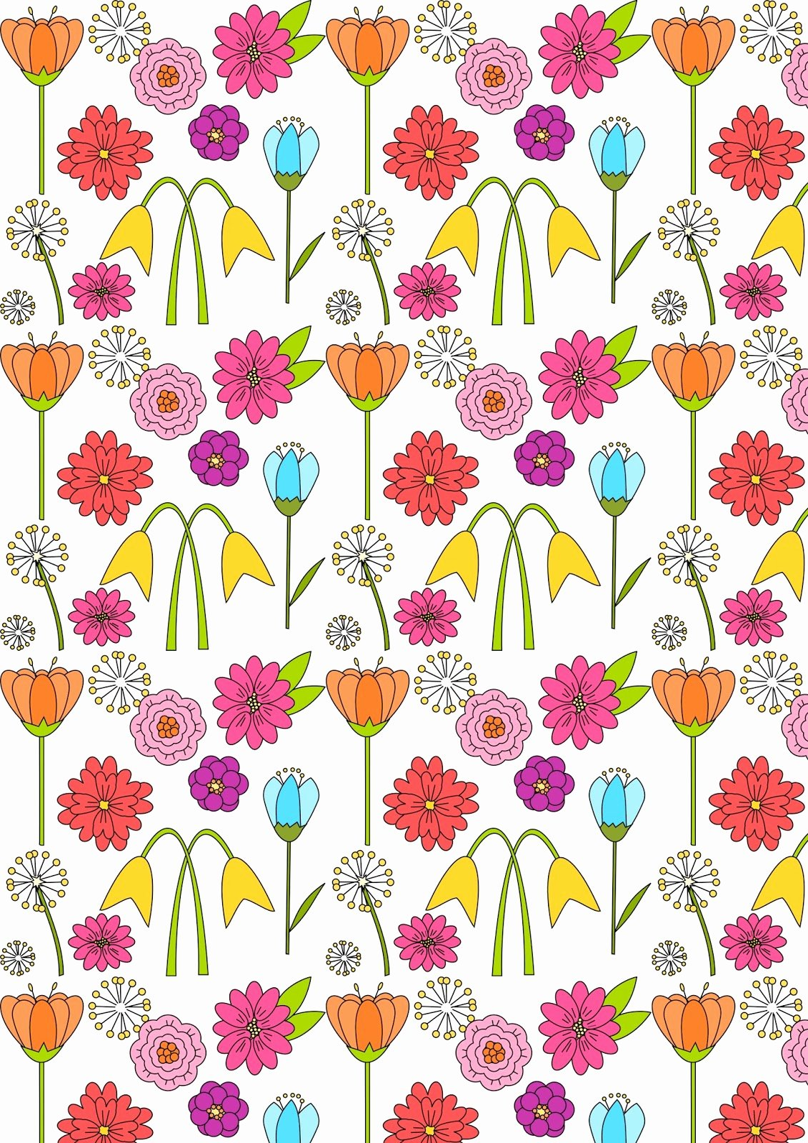 Paper Flower Pattern Printable Beautiful Free Digital Spring Scrapbooking Paper Ausdruckbares