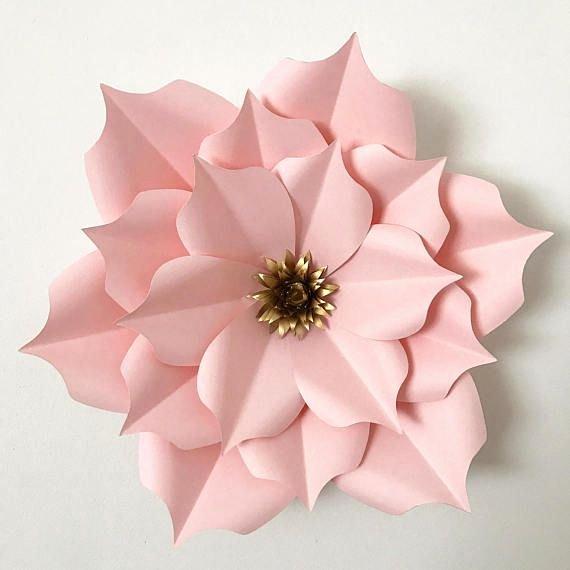 Paper Flower Pattern Printable Elegant Pin On Paper Flowers