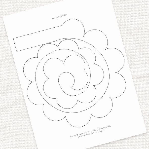Paper Flower Pattern Printable Fresh Best S Of Rose Printable Template Paper Rose