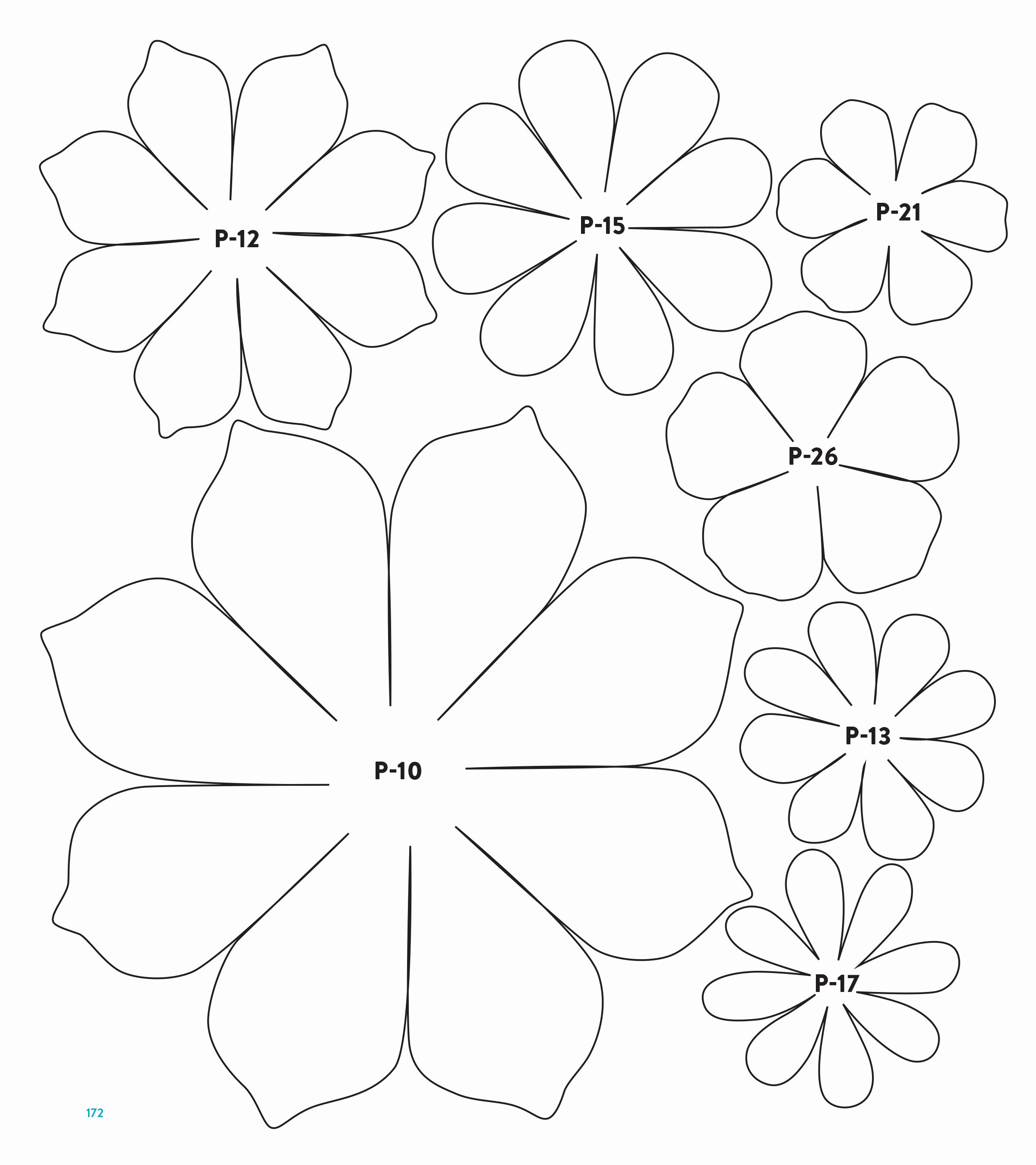 Paper Flower Pattern Printable Fresh Templates