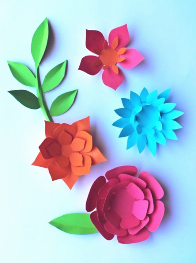 Paper Flower Pattern Printable Unique Printables Diy Craft Activities Templates and Tutorials