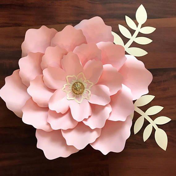 Paper Flower Petals Template Fresh Svg Petal 21 Paper Flower Template with Base Digital File