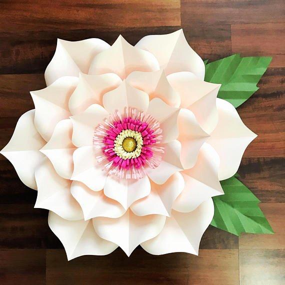 Paper Flower Petals Template Unique Pdf Petal 3 Paper Flower Template with Base Digital Version