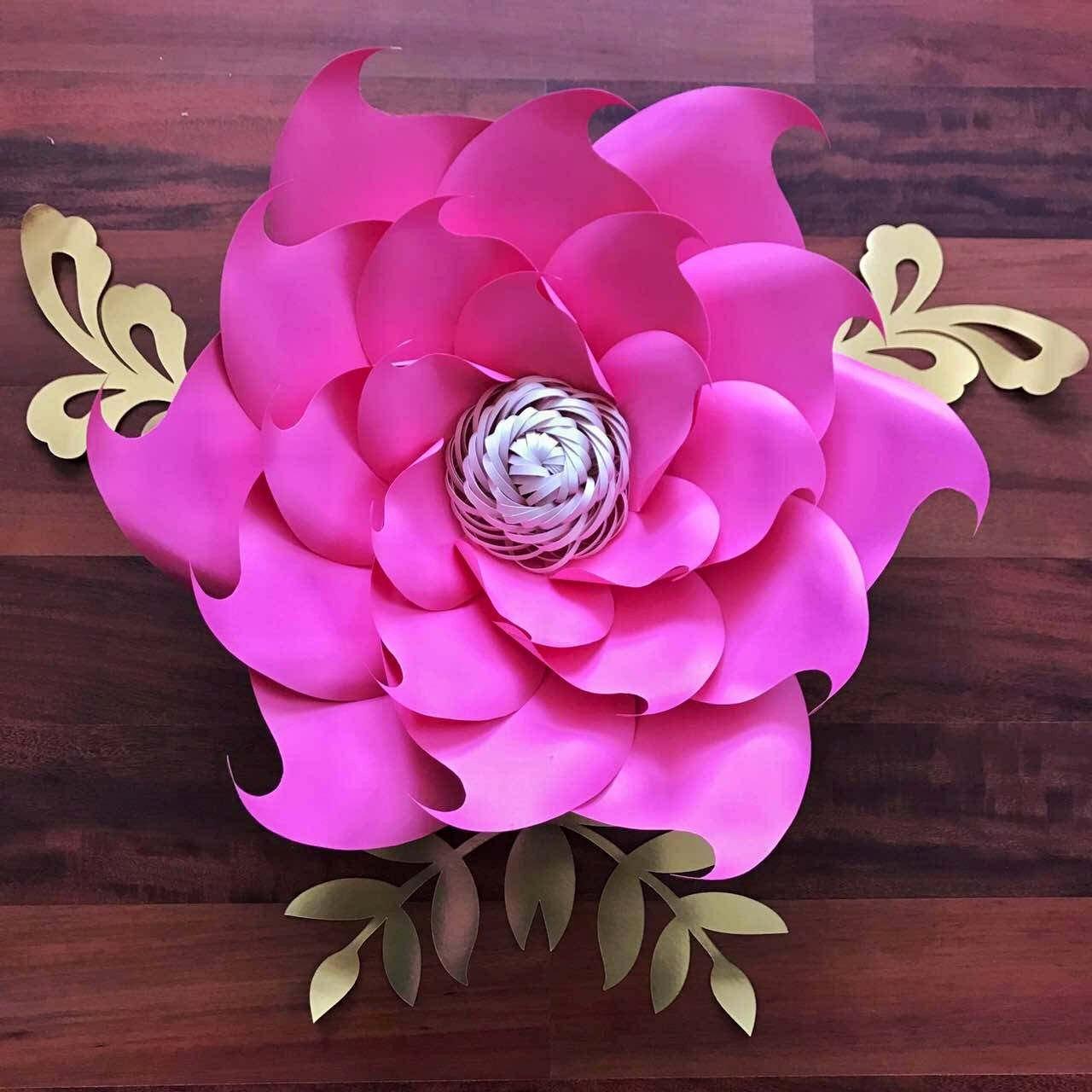 Paper Flower Petals Template Unique Pdf Petal 9 Paper Flower Template Digital Version the