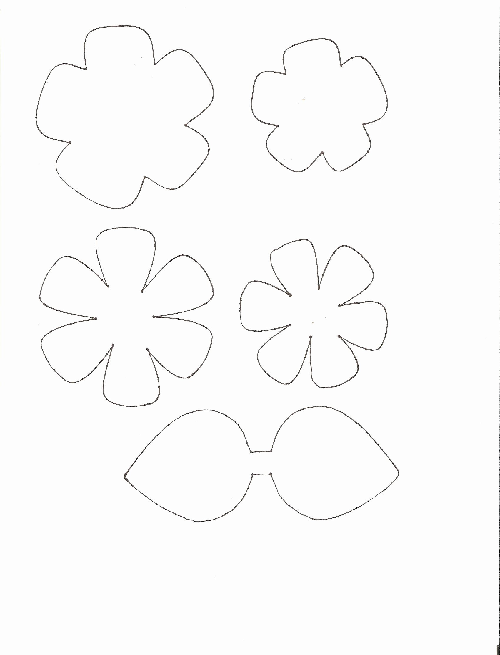 Paper Flower Templates to Print Beautiful Shabby Chic Scrap Fabric Flowers