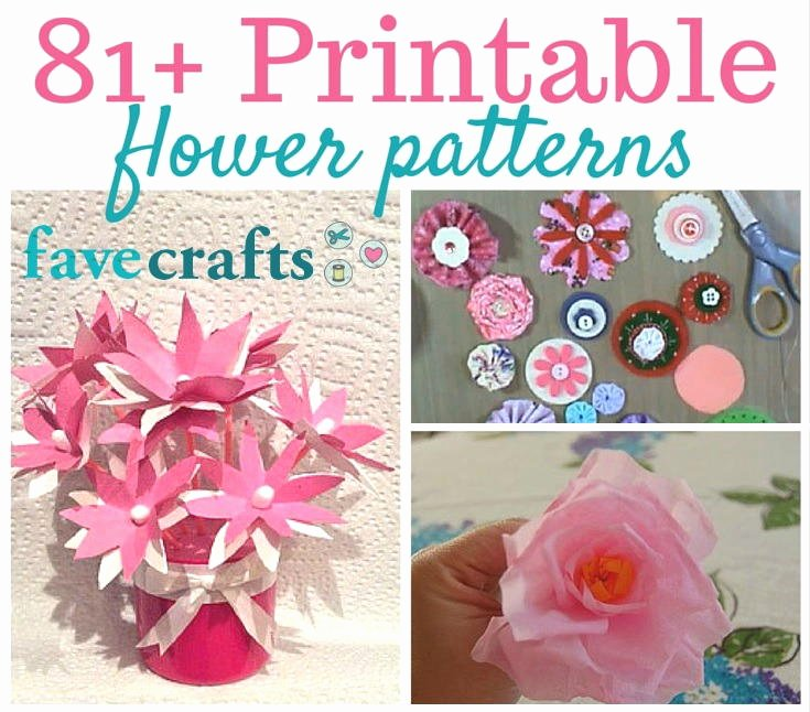 Paper Flower Templates to Print Fresh 81 Printable Flower Patterns