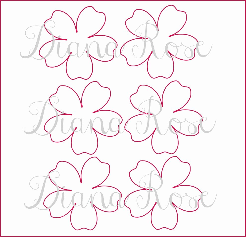 Paper Flower Templates to Print Fresh Printable Paper Rose Templates Diy Paper Flowers Printable
