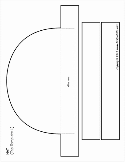 Paper top Hat Template Awesome Halloween Printables Page 2