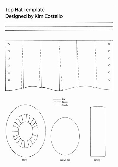 Paper top Hat Template Beautiful 17 Best Ideas About Hat Template On Pinterest
