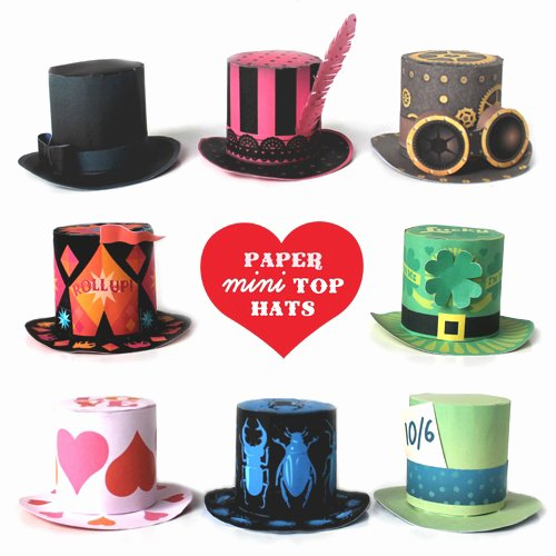 Paper top Hat Template Best Of How to Make A Mini top Hat Plus 8 Party Hat Templates to