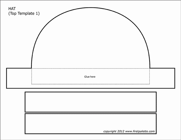 Paper top Hat Template Inspirational Paper Hat Templates