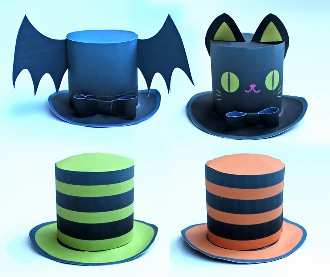 Paper top Hat Template Luxury Cute Halloween Mini top Hat 4 Diy Printable Easy to Make