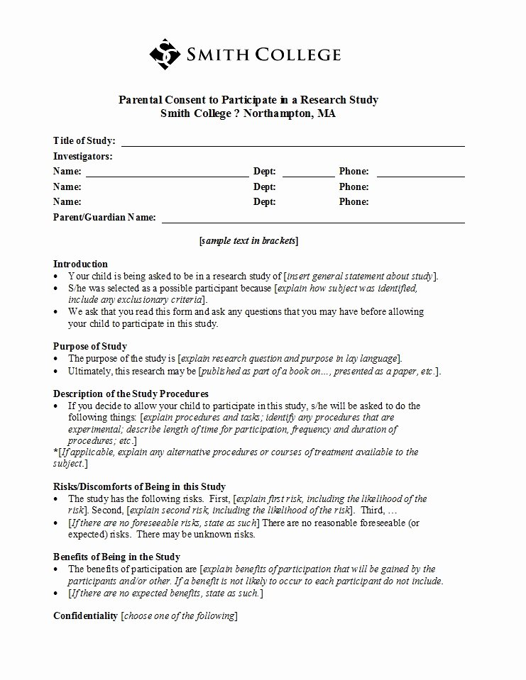 Parent Consent forms Template Awesome 50 Printable Parental Consent form & Templates Template Lab