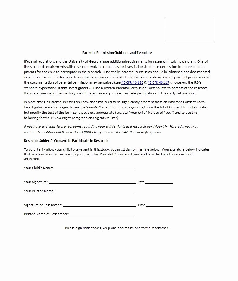 Parent Consent forms Template Beautiful 50 Printable Parental Consent form & Templates Template Lab