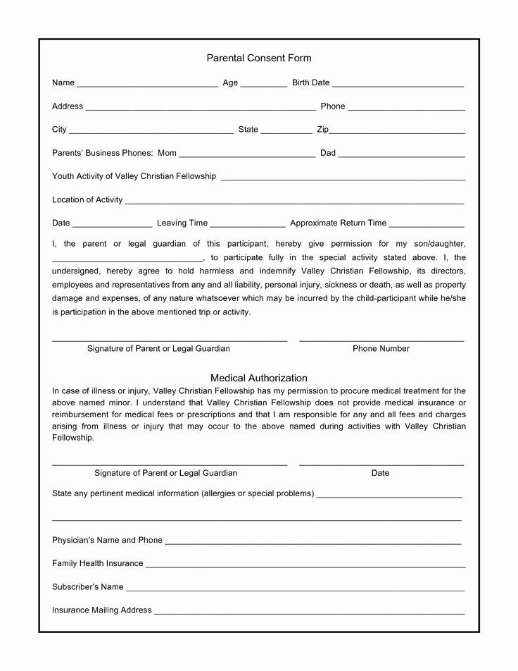 Parent Consent forms Template Elegant Parental Consent form for S Swifter Parental
