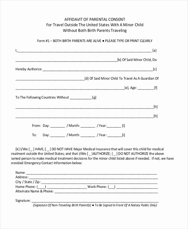 Parent Consent forms Template Fresh Free 8 Sample Child Travel Consent forms In Pdf