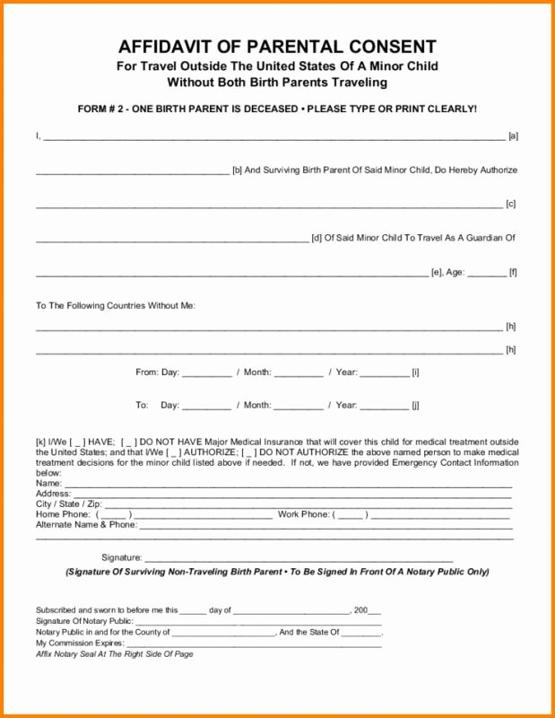 Parent Consent forms Template Luxury Parental Consent form