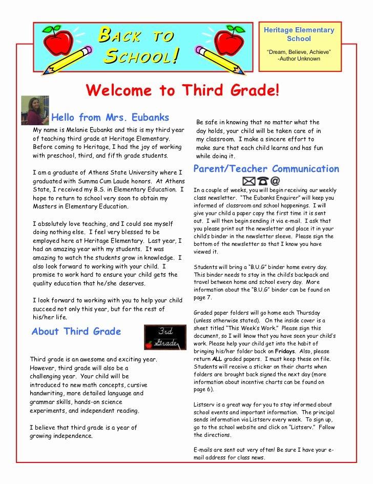 Parent Letter From Teacher Template Beautiful Parent Letter