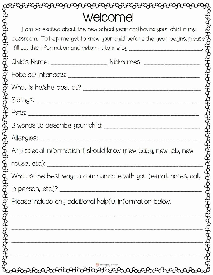 Parent Letter From Teacher Template Lovely Best 10 Parent Newsletter Template Ideas On Pinterest