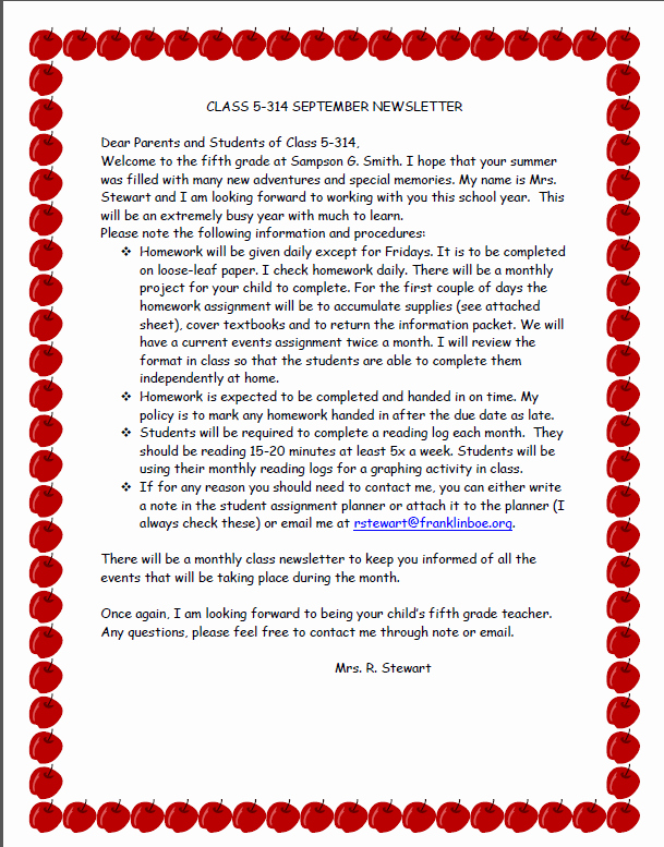 Parent Letter From Teacher Template Lovely Wel Ing Students before the First Day Of School