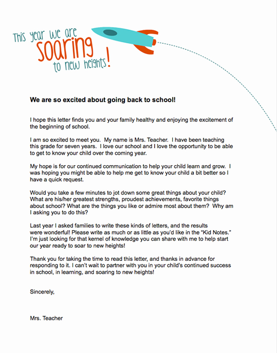 Parent Letter From Teacher Template New Teacher Introduction Letter On Pinterest