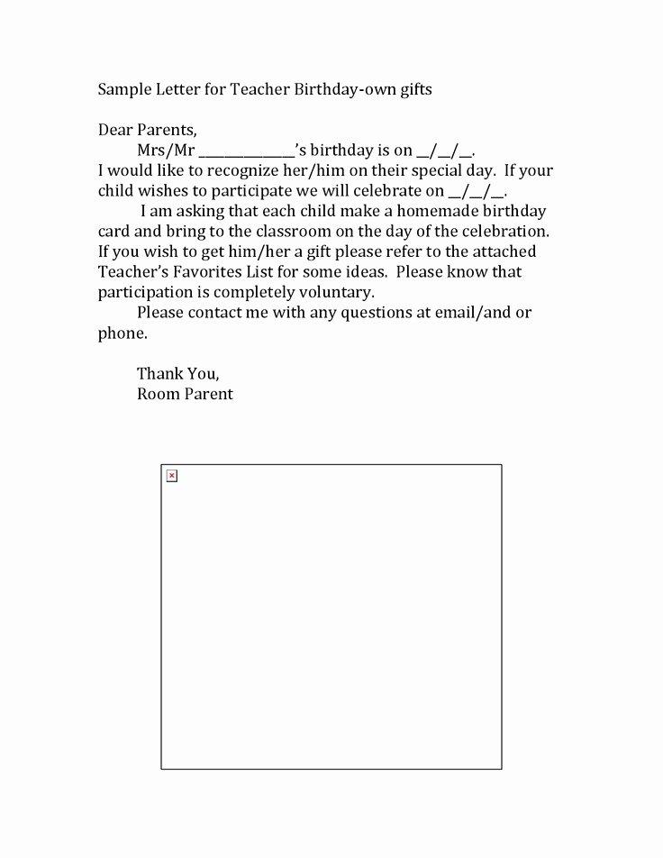 Parent Letter From Teacher Template New Teacher Templates Letters Parents