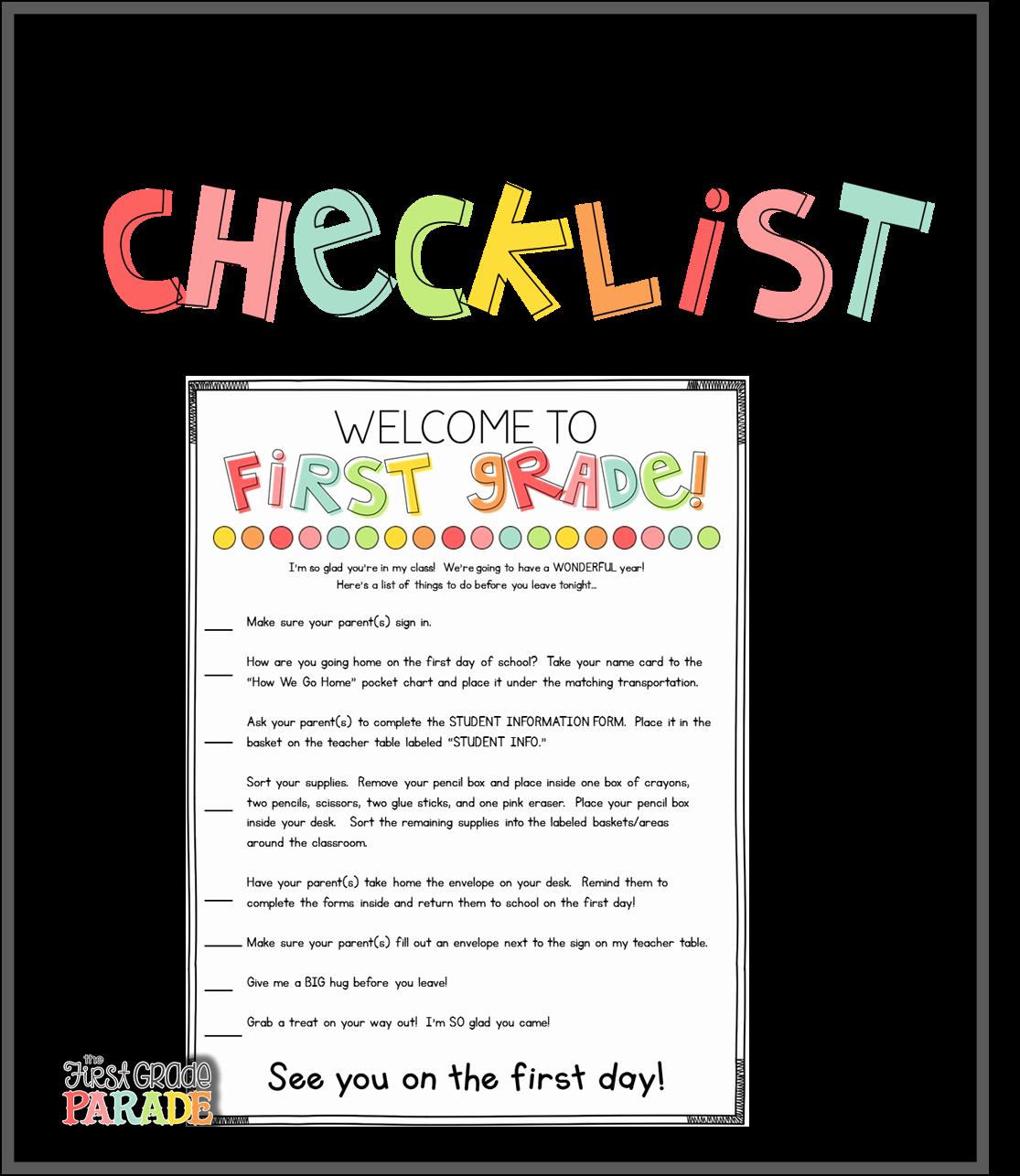 Parent Letter From Teacher Template Unique Meet the Teacher Tips & Ideas the First Grade Parade
