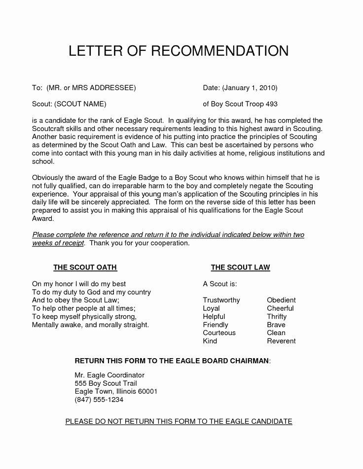 Parent Letter Of Recommendation Beautiful 11 Best Eagle Scout Letters Of Re Mendation Images On
