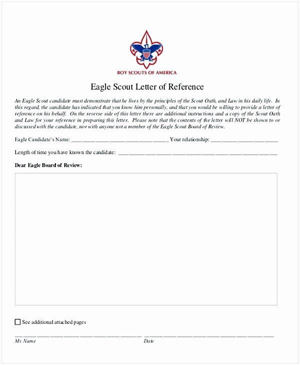 Parent Letter Of Recommendation Fresh Eagle Scout Letter Of Re Mendation Sample From Parents