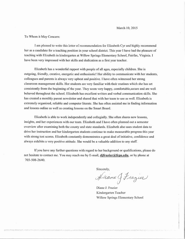 Parent Letter Of Recommendation Lovely Letters Of Re Mendation Teach