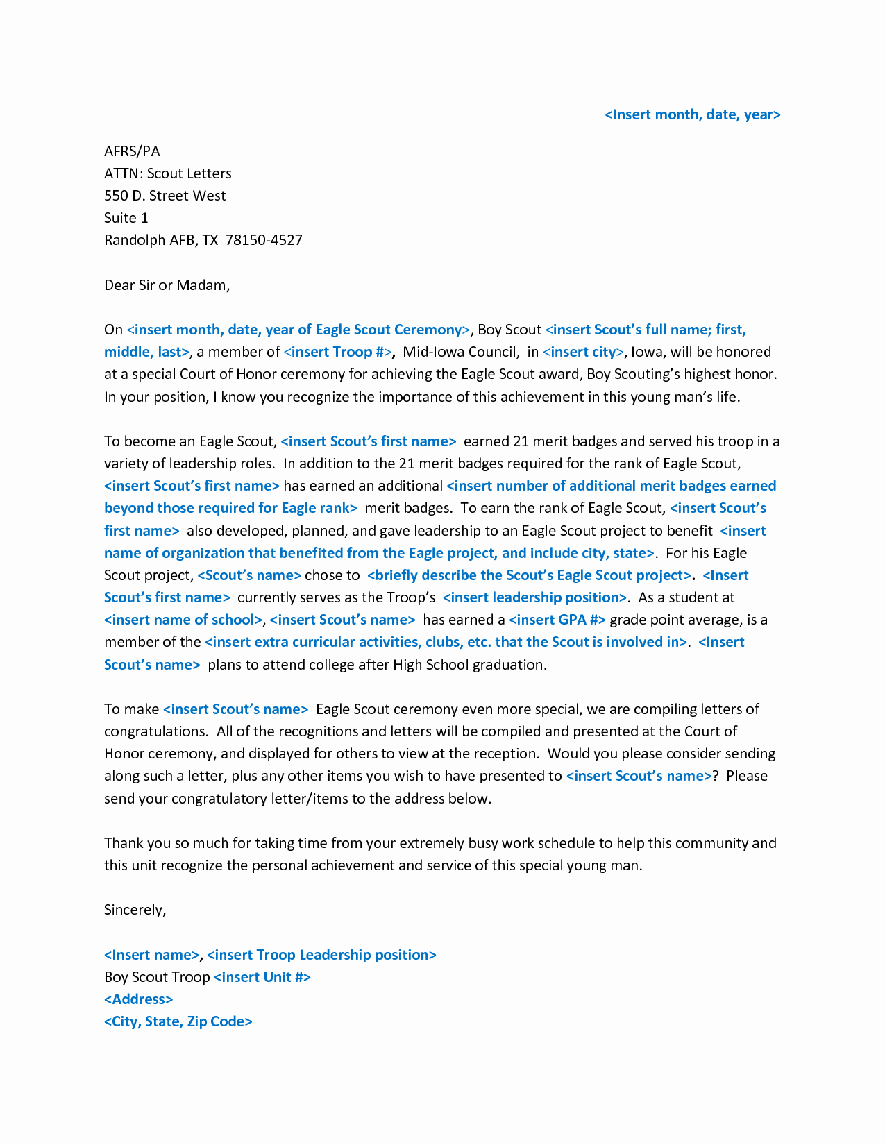 Parent Letter Of Recommendation Luxury Eagle Scout Letter Of Re Mendation Yahoo Image