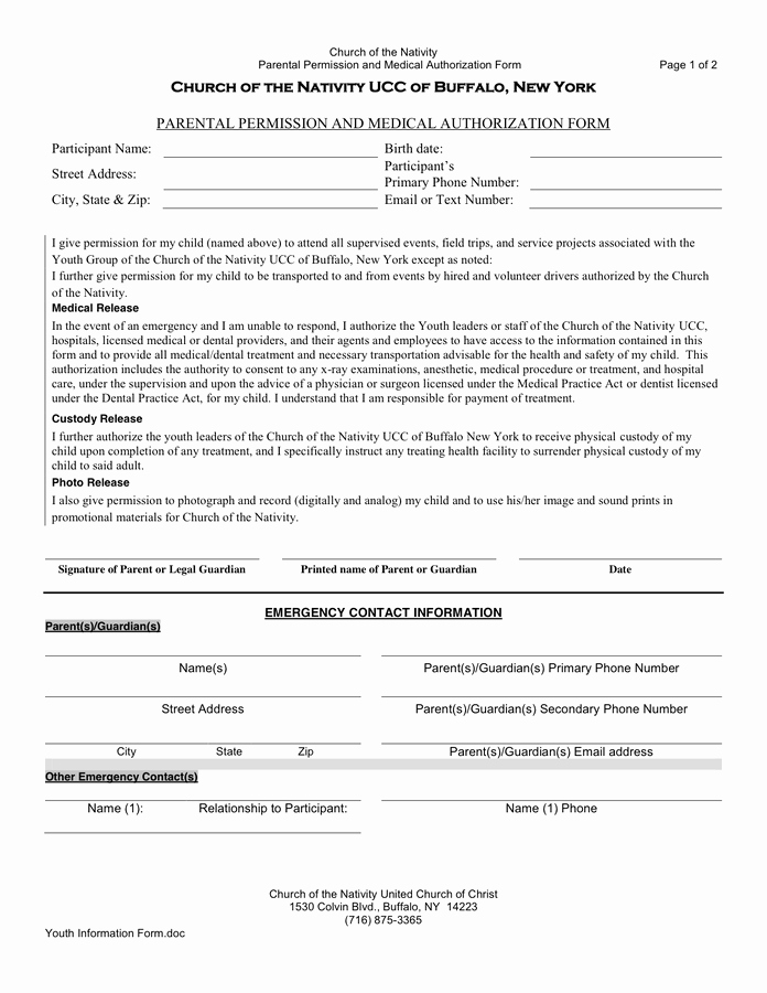 Parent Permission Slip Template Elegant Permission Slip Template In Word and Pdf formats