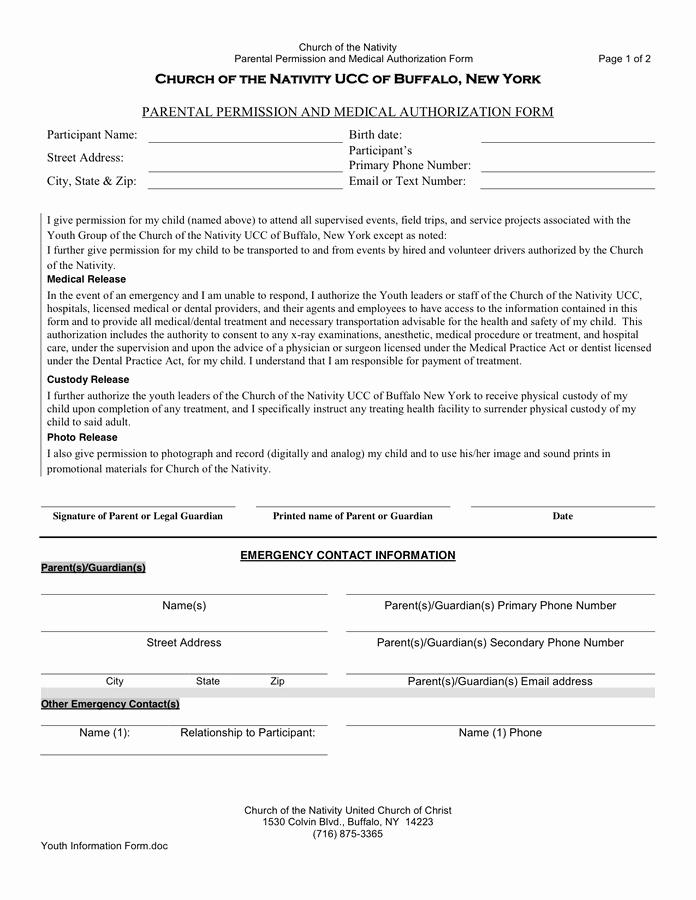 Parent Permission Slip Template Elegant Permission Slip Template In Word and Pdf formats