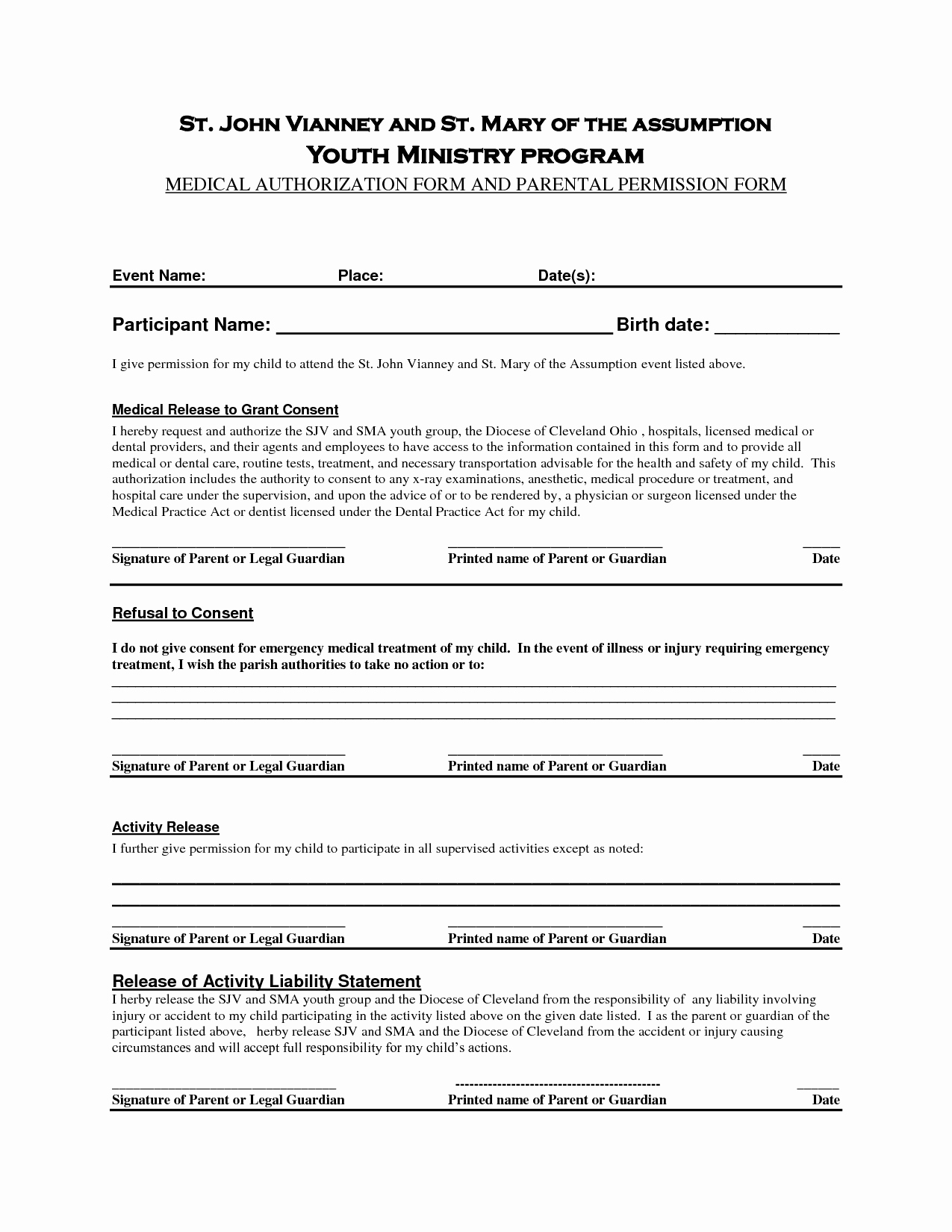 Parent Permission Slip Template Fresh Permission Slip Template