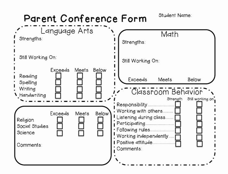 Parent Teacher Conference form Template Elegant 54 Best organize Images On Pinterest