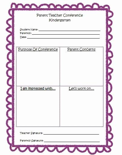 Parent Teacher Conference form Template Unique Mrs Bumgardner S Kindergarten Parent Teacher Conference form