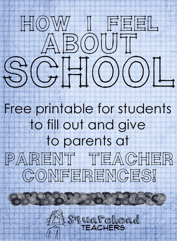 Parent Teacher Conference Sheet Beautiful Student forms to Give to Parents at Parent Teacher