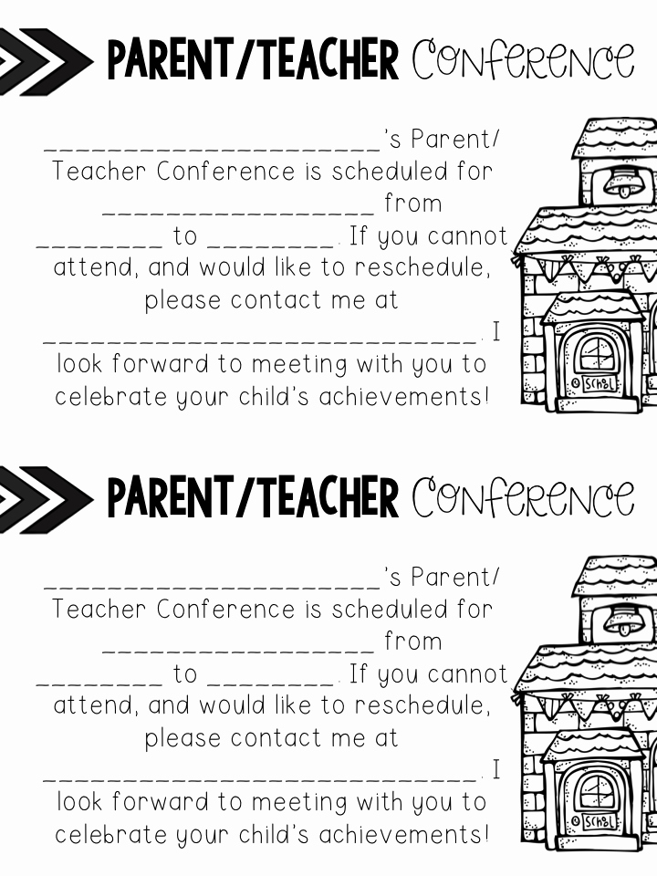 Parent Teacher Conference Sheet Beautiful Teach Dream Inspire Parent Teacher Conferences