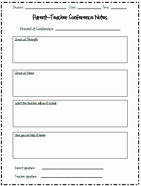Parent Teacher Conference Sheet Inspirational Tips for Setting Up Parent Teacher Conferences