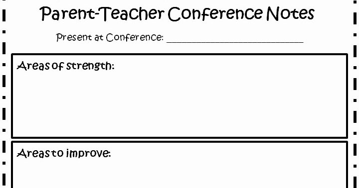 Parent Teacher Conference Sheet New the Fabulous First Grade Parent Teacher Conferences Made