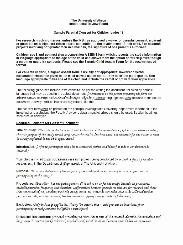 Parental Consent forms Template Inspirational 50 Printable Parental Consent form & Templates Template Lab