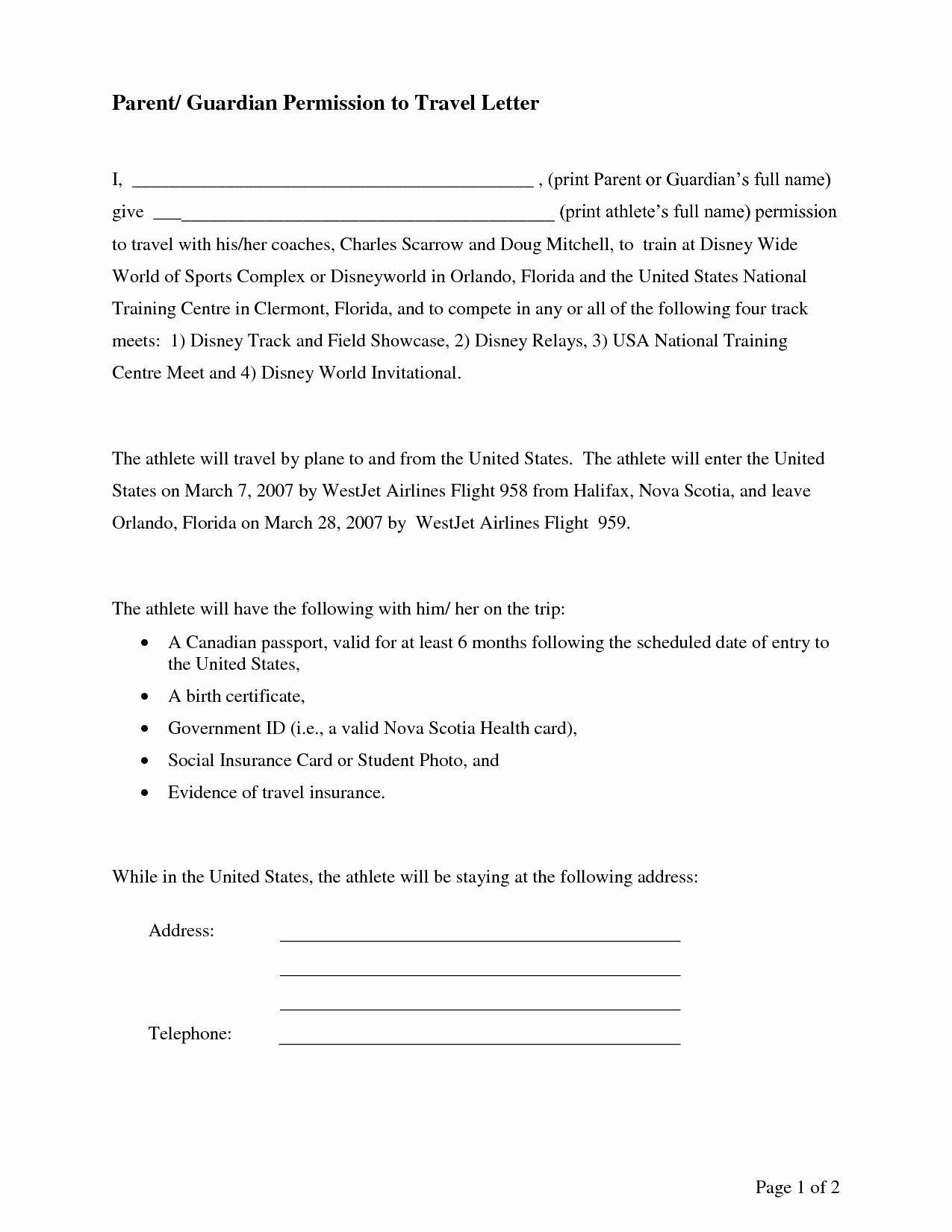 Parental Consent forms Template Lovely Parental Consent Permission Letter Sample