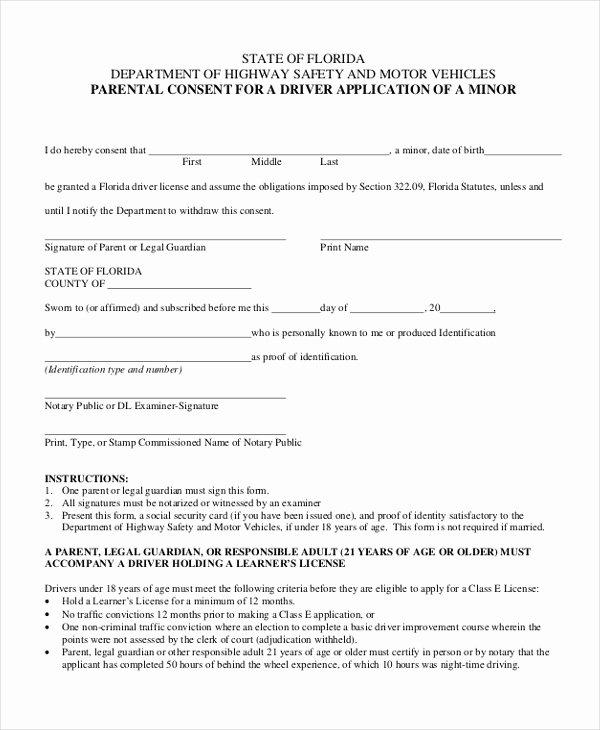 Parental Consent forms Template Unique Free 10 Sample Parental Consent forms In Pdf