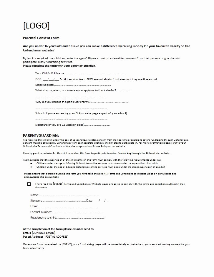 Parents Consent form Template Beautiful 50 Printable Parental Consent form & Templates Template Lab