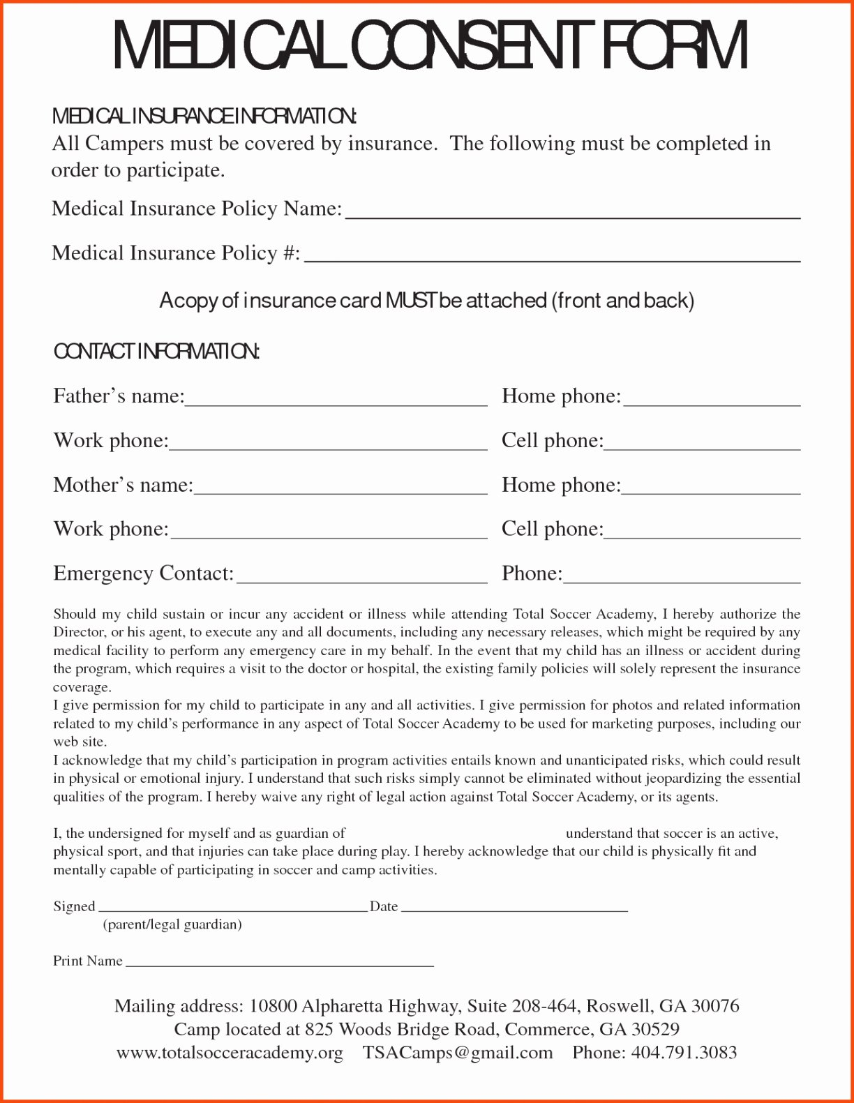 Parents Consent form Template Inspirational Medical Consent Letter for Grandparents Template