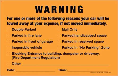 Parking Warning Notice Template Awesome Parking Violation Notice Template Free Download
