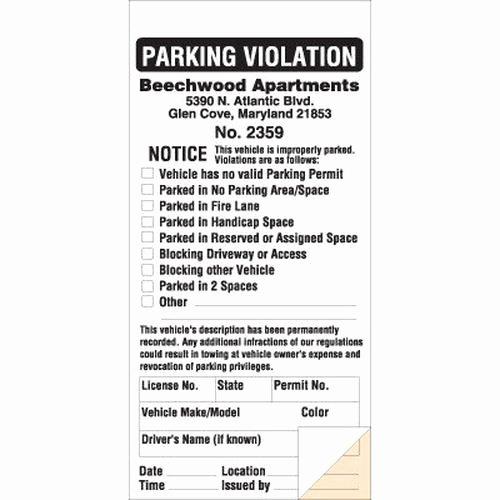 Parking Warning Notice Template Beautiful Parking Violation Parking Ticket