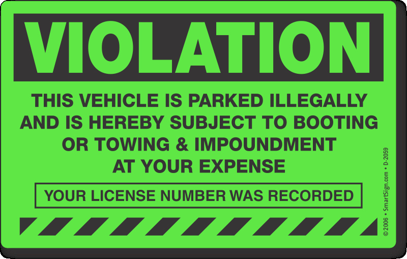 Parking Warning Notice Template Elegant Parking Violation & towing Stickers – Stop Free Loaders